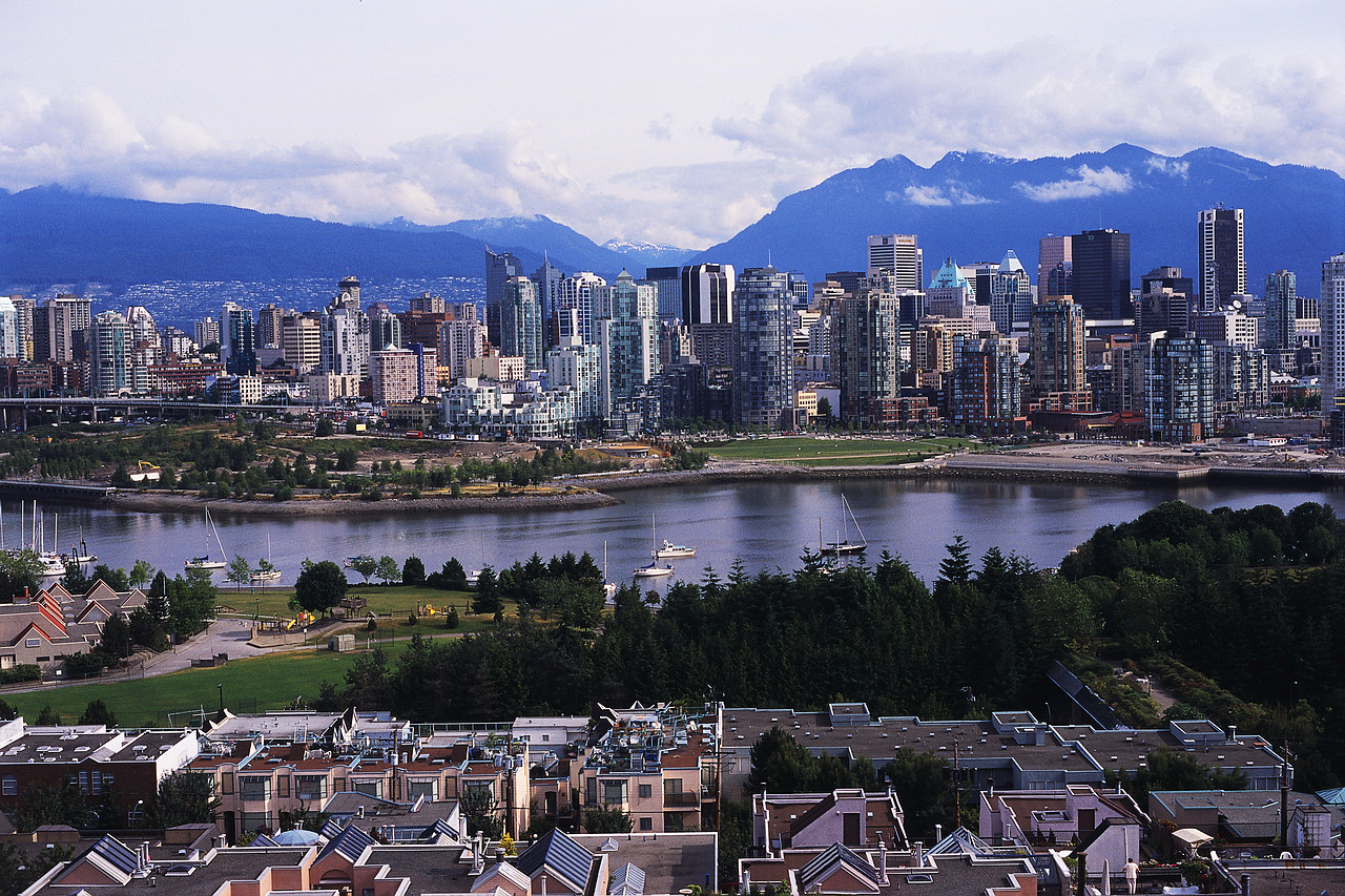 Vancouver Skyline and False Creek - Environment Week in Canada