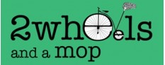 2wheels and a mop logo
