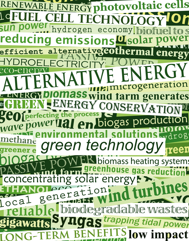 Alternative Energy and green technology banner