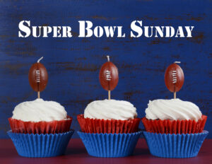 Super Bowl Sunday cup cakes