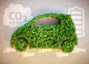 CO2 and a grass shaped car